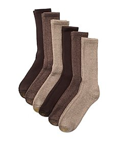 GOLD TOE® Men's Big & Tall Extended Size Metropolitan Crew Dress Socks