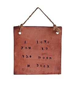 Mud & Maker Text Tile Love You To The Moon