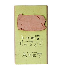 Mud & Maker Clay & Wood Home Sweet Home Plaque
