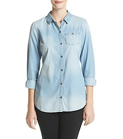 Ruff Hewn Petites' One Pocket Chambray Tunic
