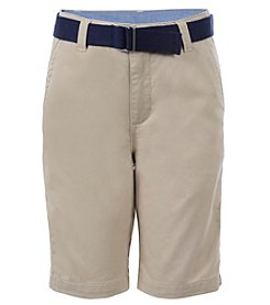 Chaps® Boys' 8-20 Flat Front Belted Shorts