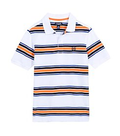 Chaps Boys' 8-20 Short Sleeve Pique Stripe Polo