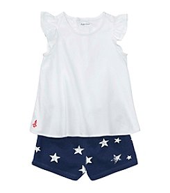 Ralph Lauren® Baby Girls' 2 Piece Top And Shorts Set