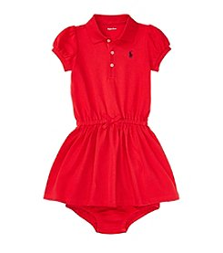 Ralph Lauren Baby Girls' Short Sleeve Polo Dress And Bloomer