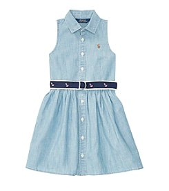 Polo Ralph Lauren® Girls' 2T-6X Chambray Shirt Dress