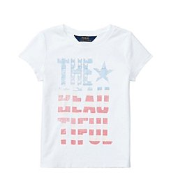 Polo Ralph Lauren® Girls' 2T-6X Short Sleeve Jersey Graphic Tee