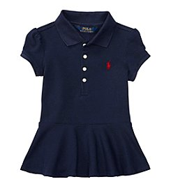 Polo Ralph Lauren® Girls' 2T-6X Short Sleeve Stretch Peplum Polo Shirt