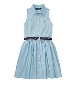 Polo Ralph Lauren Girls' 7-16 Chambray Shirt Dress
