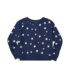 Polo Ralph Lauren® Girls' 7-16 Star Print Boxy Sweatshirt