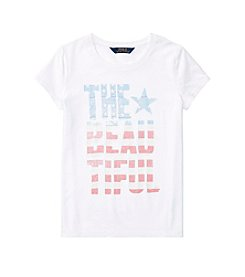 Polo Ralph Lauren® Girls' 7-16 Short Sleeve Jersey Graphic Tee
