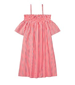 Polo Ralph Lauren® Girls' 7-16 Striped Off The Shoulder Dress