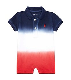 Ralph Lauren® Baby Boys' Dip-Dyed Polo Shortalls