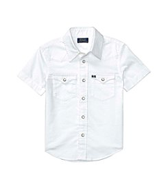 Polo Ralph Lauren® Boys' 2T-20 Short Sleeve Oxford Western Shirt