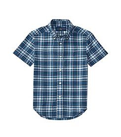 Polo Ralph Lauren® Boys' 2T-20 Short Sleeve Madras Buttondown Shirt