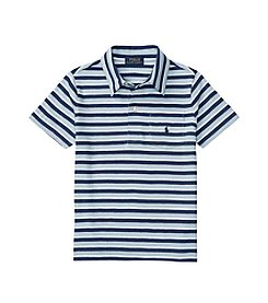 Polo Ralph Lauren® Boys' 2T-20 Short Sleeve Striped Polo Shirt