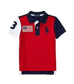 Polo Ralph Lauren® Boys' 2T-20 Short Sleeve Colorblocked Polo Tee