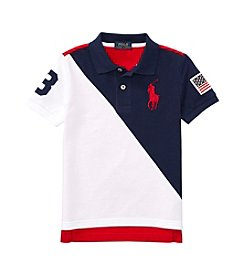Polo Ralph Lauren® Boys' 2T-20 Short Sleeve Banner Polo Shirt