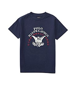 Polo Ralph Lauren® Boys' 2T-20 Short Sleeve Jersey Graphic Tee