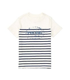 Polo Ralph Lauren® Boys' 2T-20 Short Sleeve Striped Graphic Tee