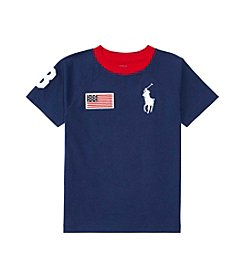 Polo Ralph Lauren® Boys' 2T-20 Short Sleeve Big Pony Crewneck Tee