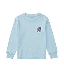 Polo Ralph Lauren® Boys' 2T-7 Long Sleeve Graphic Pocket Tee