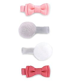 Carter's Baby Girls' Baby Girls 4-Pack Pom Bow Hair Clips