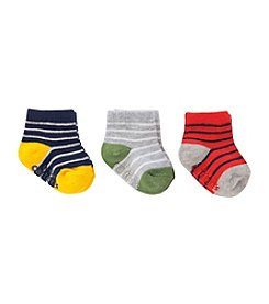 Carter's Baby Boys' 3-Pack Multi Stripe Socks