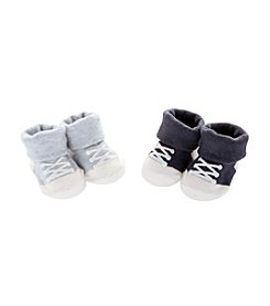 Carter's® Baby Boys' 2-Pack Blue Sneaker Keepsake Booties