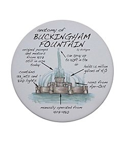 Dishique Anatomy of Buckingham Fountain Coaster