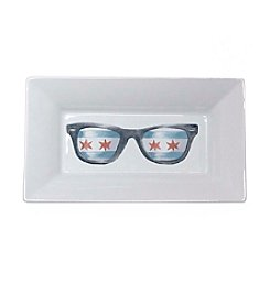 Dishique Chicago Flag Glasses Dish