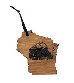 eco Urban Timber Wisconsin Ornament