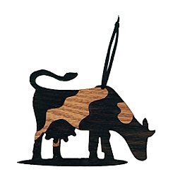 eco Urban Timber Cow Ornament
