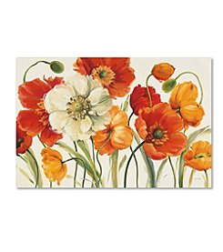 Trademark Global Fine Art Lisa Audit 'Poppies Melody I' Canvas Art