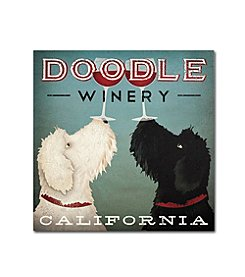 Trademark Global Fine Art Ryan Fowler 'Doodle Wine' Canvas Art