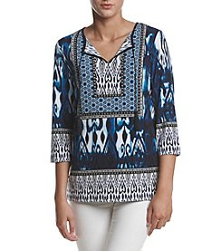 Jones New York® Printed Tie Neck Tunic