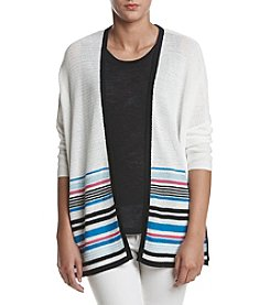 Jones New York® Open Front Wide Cardigan