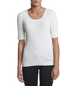 Jeanne Pierre® Ribbed Elbow Sweater