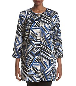 Kasper® Plus Size Printed Topper Jacket
