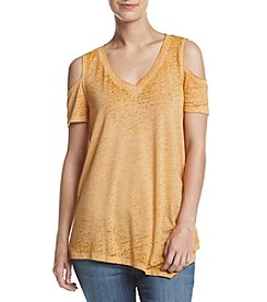Oneworld® Cold Shoulder Knit Top