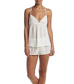 Linea Donatella® Lace Trim Pajama Set