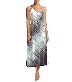Jones New York® Satin/Ikat Aqua Chemise Gown