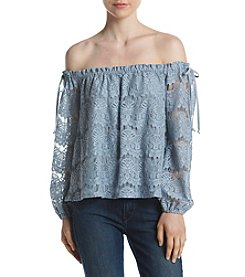 June & Hudson® Lace Off Shoulder Long Sleeve Blouse