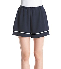 June & Hudson® Piped Woven Shorts