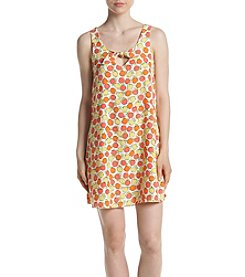 Be Bop Peach Print Tie Top Dress