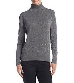 Cupio Button Sleeve Turtleneck