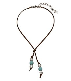 Robert Lee Morris Soho™ Y Style Turquoise Choker Necklace