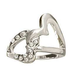 GUESS Linked Heart Ring