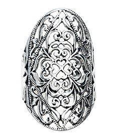 Marsala Oval Filigree Ring