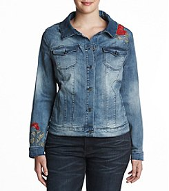 Vintage America Blues™ Plus Size Embroidered Denim Jacket