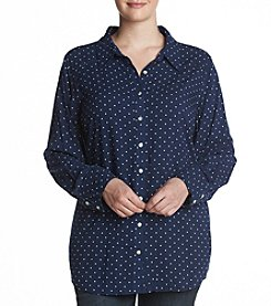 Cupio Plus Size Polka Dot Top